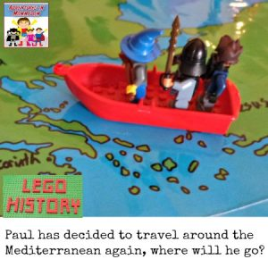 Paul's third missionary trip as told by Legos