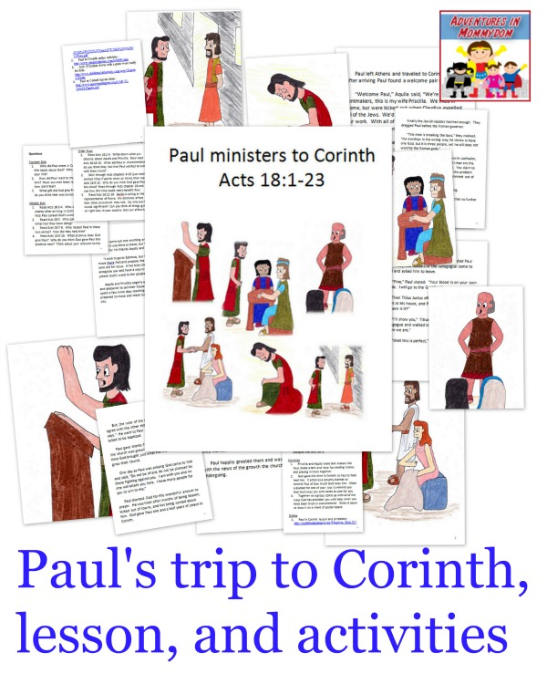 Paul's trip to Corinth Sunday School lesson