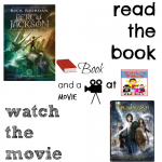 Percy Jackson book and a movie feature 6th 8th middle