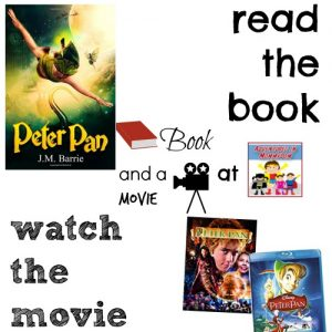 Peter Pan book and a movie feature