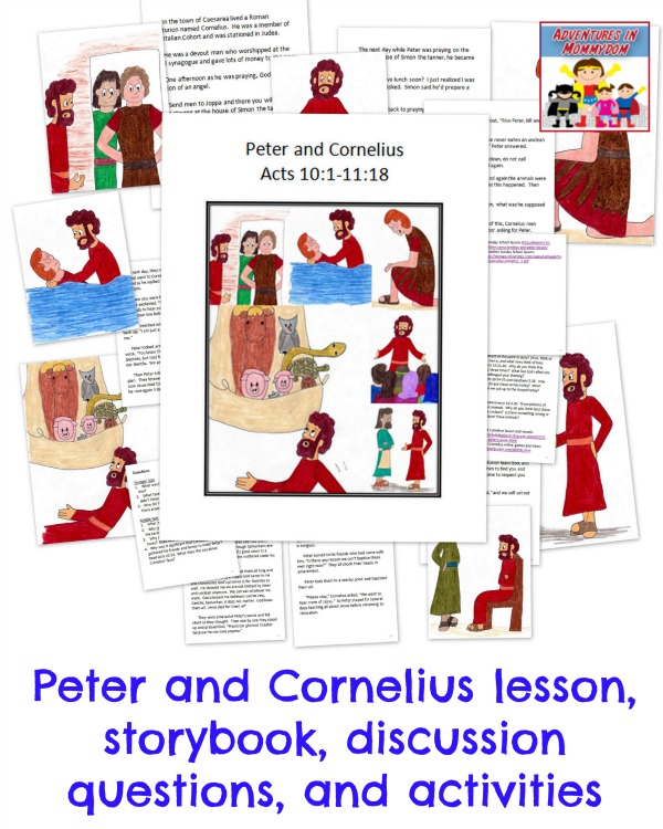 Peter and Cornelius Sunday School lesson