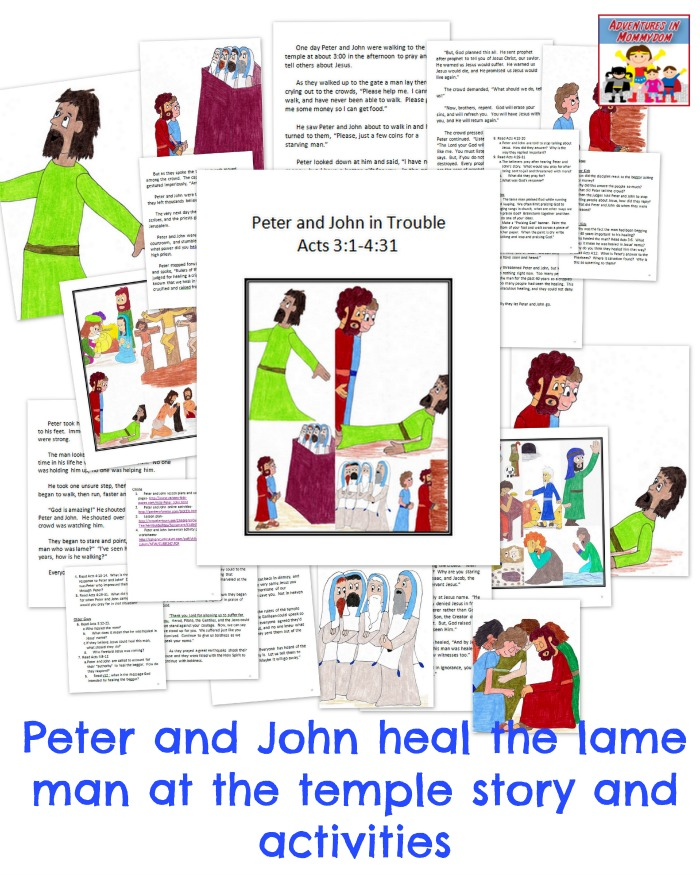 Peter And John Heal A Lame Man