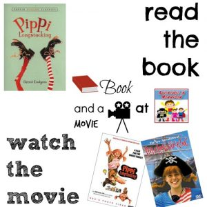 Pippi Longstocking book and a movie feature