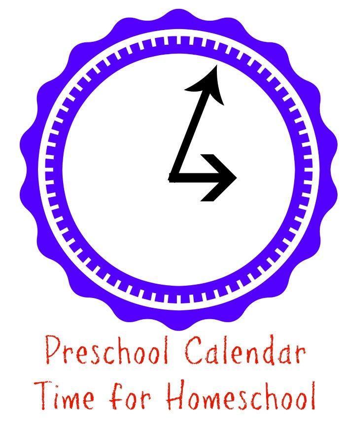 Preschool calendar time for homeschool