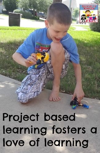 Project based learning fosters a love of learning