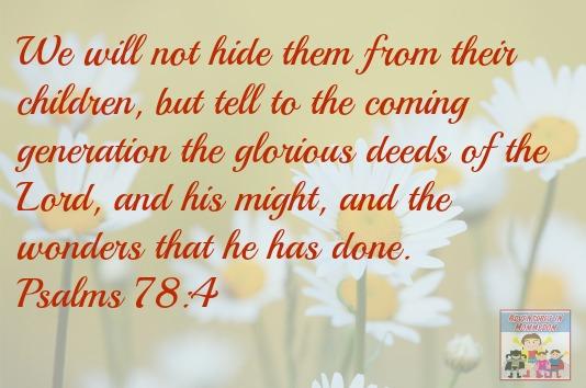 Psalms 78:4