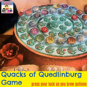 Quacks of Quedlinburg press your luck probability game