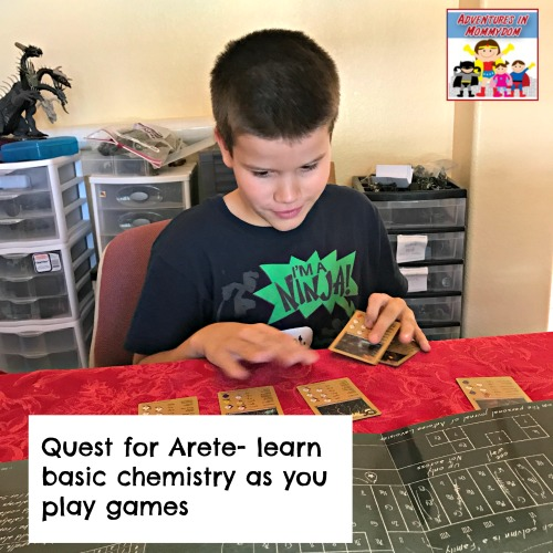 Quest for Arete chemistry and alchemy game