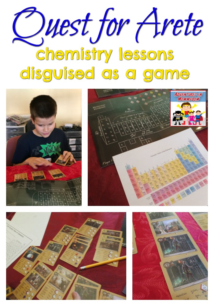 Quest for Arete chemistry lessons designed as a game