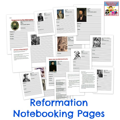 Reformation notebooking pages
