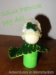 Saint Patrick peg doll