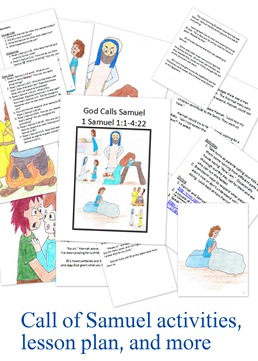 Call of samuel activities for Job bible lesson craft