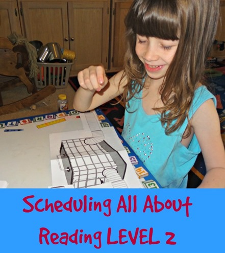 Scheduling All About Reading level 2