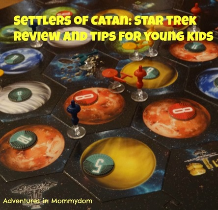 Settlers of Catan Star Trek Review and Tips for young kids