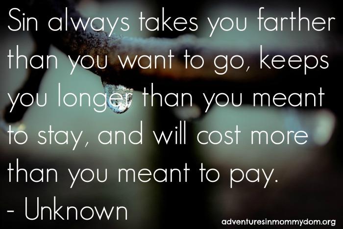 Sin always takes you