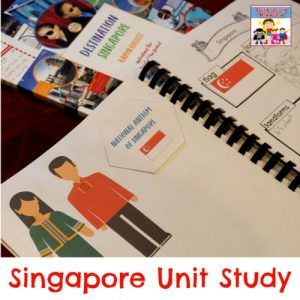Singapore Unit Study notebooking pages