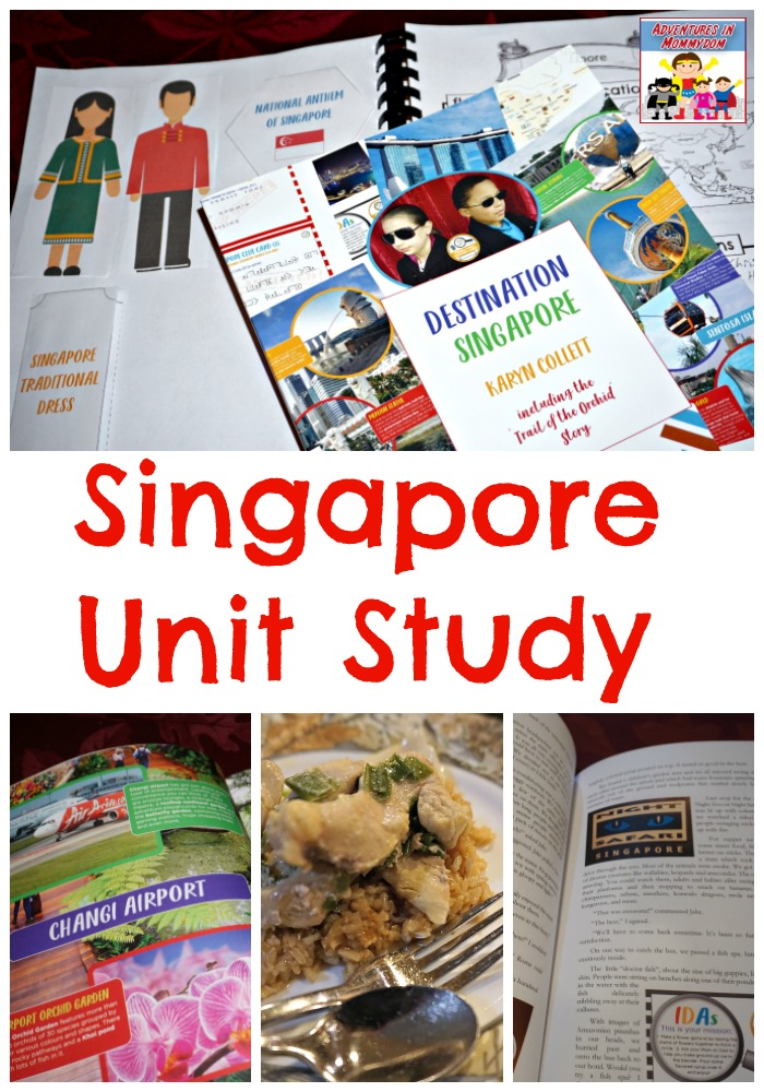 Singapore unit study featuring lapbook notebooking and meal