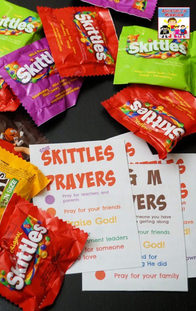 Skittles prayers for Sunday School