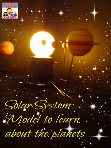 Solar system model to learn about the planets