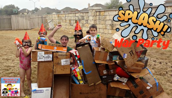 Splash war water party for kids and adults