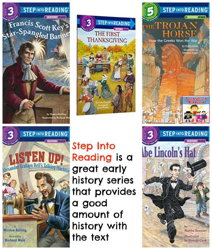 Step into reading history books for kids