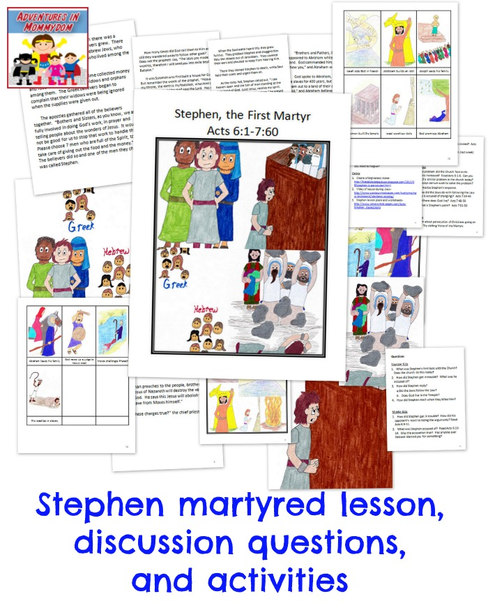 Stephen martyred lesson
