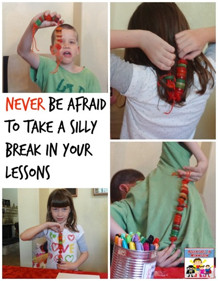 Take a silly break in your lessons from time to time