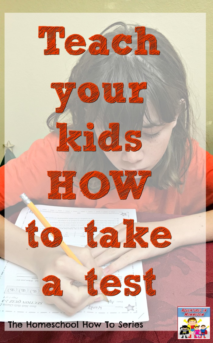 Teach Your Kids HOW to take a test