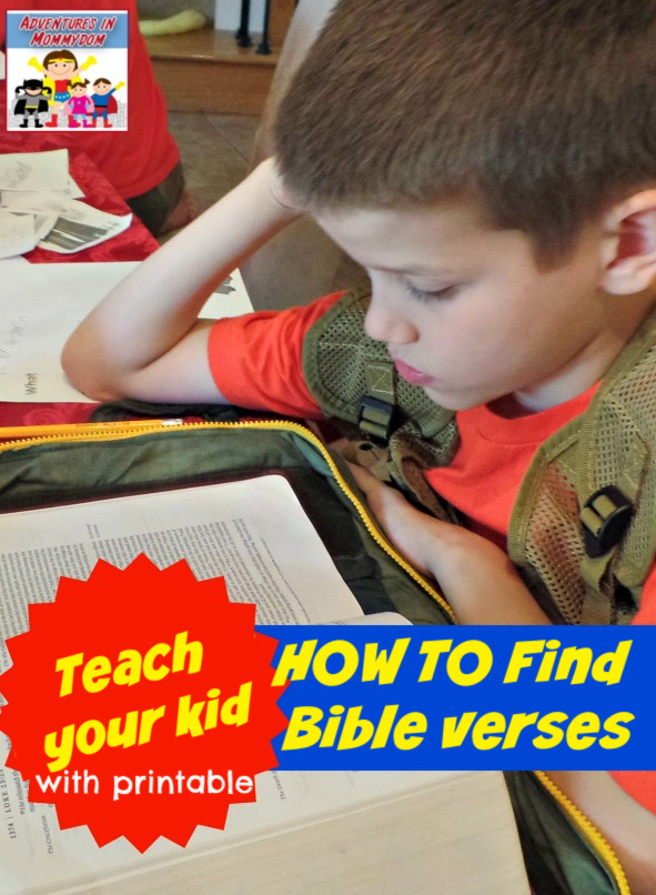 teach your kid how to find Bible verses