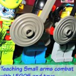 teaching small arms combat with LEGOS and toys