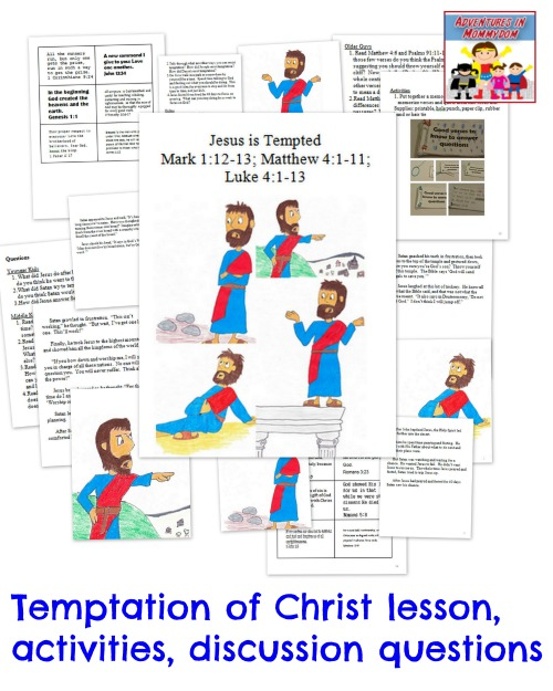 Temptation Of Christ Activity And Lesson