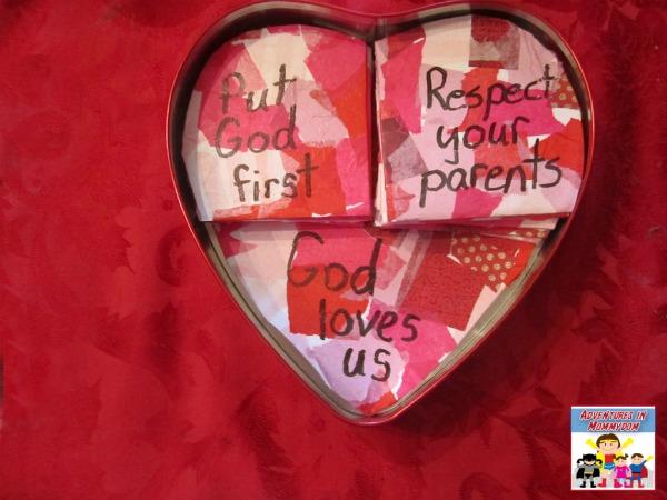 Ten commandments craft for kids