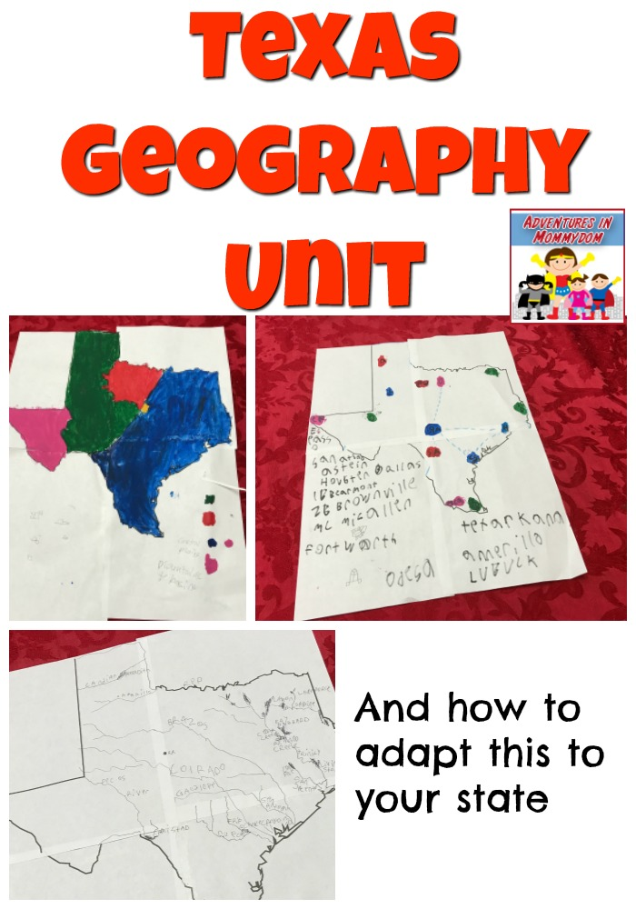 Texas Geography Unit and how to adapt to your state