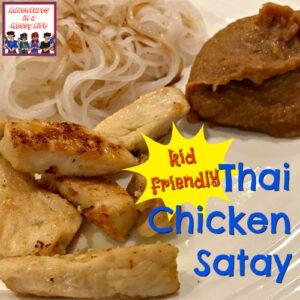 Kid Friendly Thai Chicken Satay
