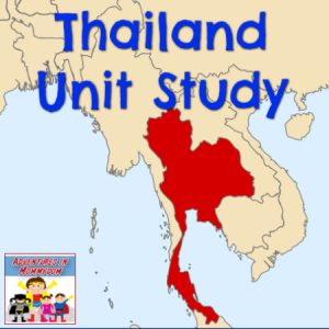 Thailand unit study notebooking