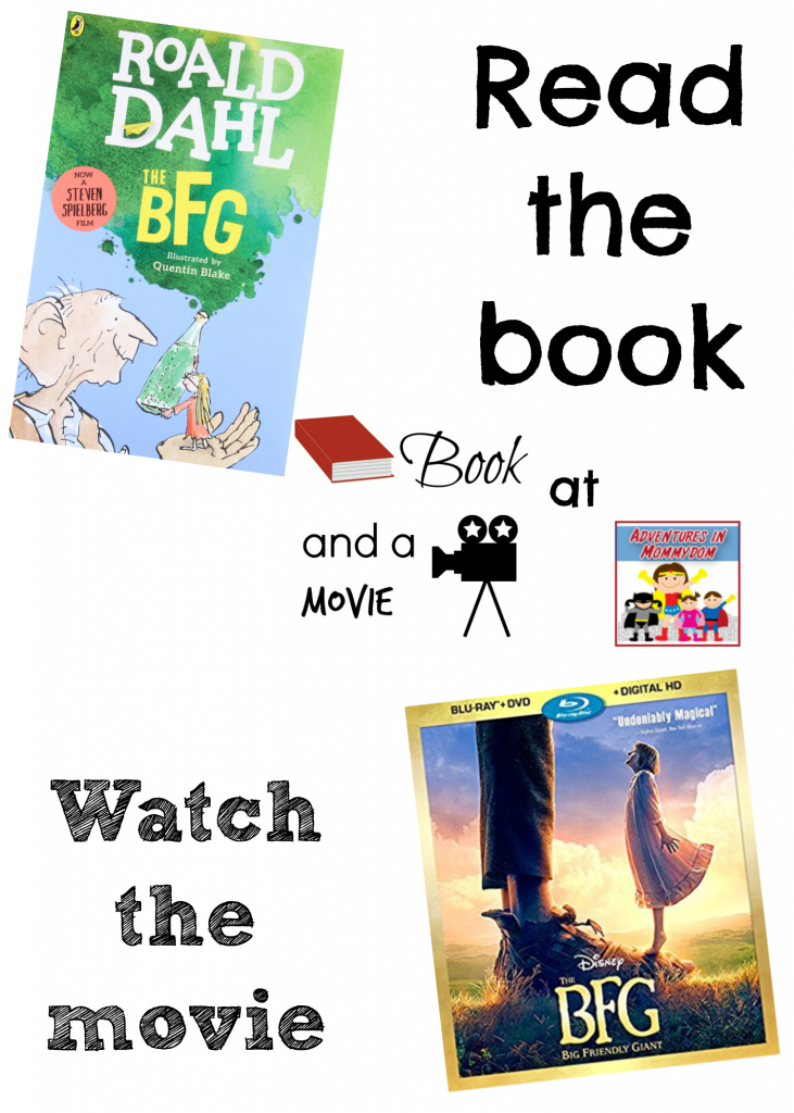 The BFG Roald Dahl book and a movie
