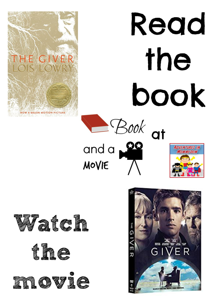 The Giver book and a movie Lois Lowry required reading 5th grade