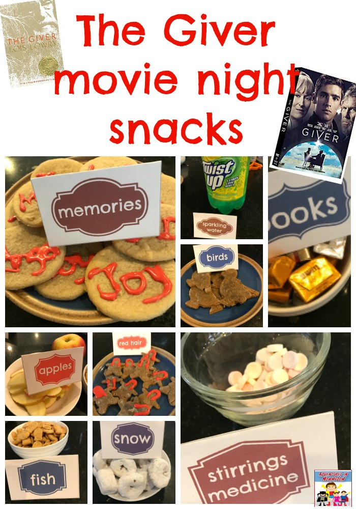 The Giver movie night snacks