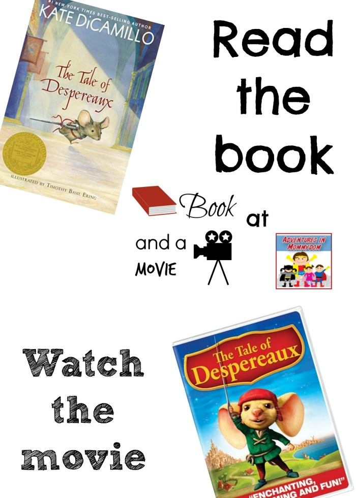 The Tale of Despereaux book and a movie