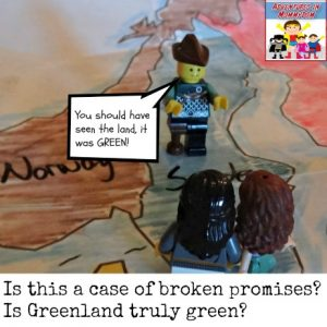 The discovery of Iceland as told by LEGOS feature