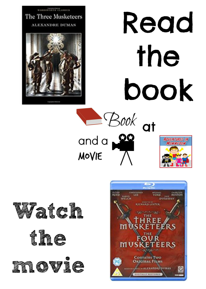 Three Musketeers book and a movie