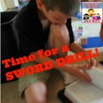 Time for a sword drill, teach your child how to find Bible verses