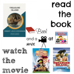 Treasure Island book and a movie feature 6th middle