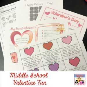 Valentine's Day for middle school