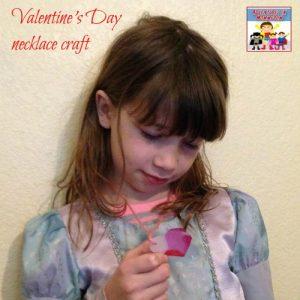 Valentine necklace craft