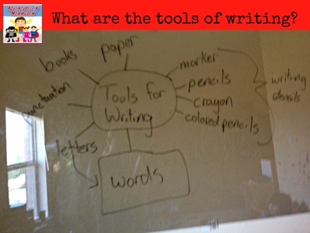 What are the tools of writing