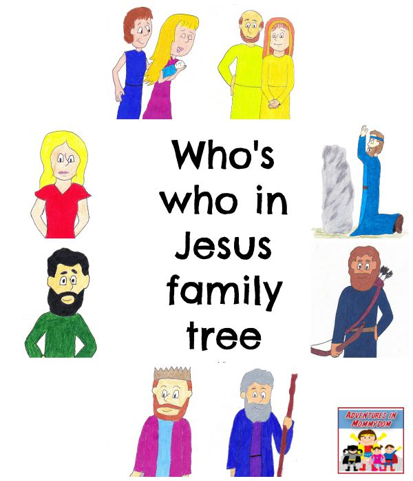 Who is who in Jesus Family Tree Christmas Story Bible study