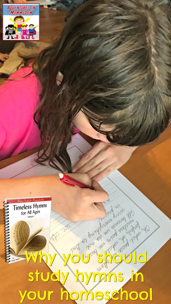Why you should study hymns in your homeschool