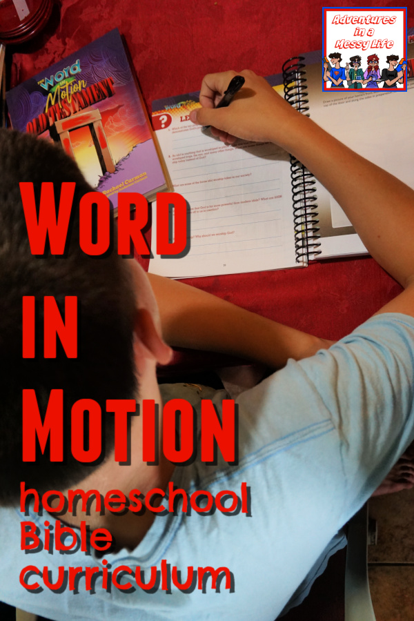 Word in Motion homeschool Bible curriculum for elementary kids