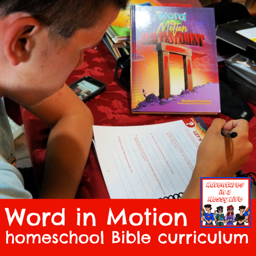 Word in Motion homeschool Bible curriculum review